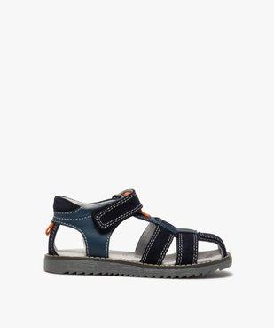 Sandales garçon à brides en cuir et fermeture scratch vue1 - Nikesneakers (ENFANT) - Nikesneakers