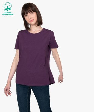 Tee-shirt femme à manches courtes avec dos plus long vue1 - Nikesneakers(FEMME PAP) - Nikesneakers