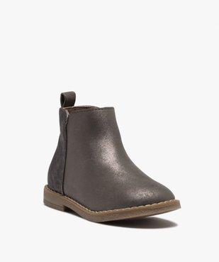 Boots fille à talon plat et reflets métallisés vue2 - GEMO (ENFANT) - GEMO