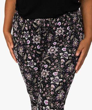 Pantalon de pyjama femme resserré dans le bas  vue2 - GEMO(HOMWR FEM) - GEMO
