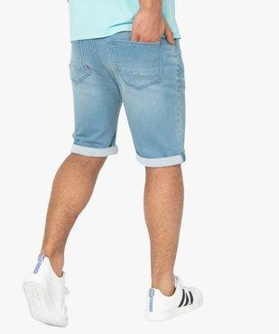 Bermuda homme en jean extensible vue3 - Nikesneakers (HOMME) - Nikesneakers
