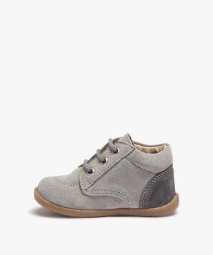 Chaussures de marche bébé en cuir bicolores vue3 - GEMO(BEBE DEBT) - GEMO