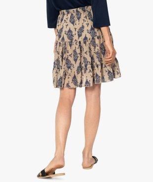 Jupe femme à motifs fleuris avec taille élastiquée vue3 - Nikesneakers(FEMME PAP) - Nikesneakers