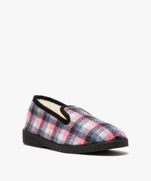 Chaussons femme style charentaises à carreaux vue2 - Nikesneakers(HOMWR FEM) - Nikesneakers