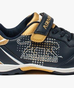 Baskets basses garçon à lacets élastiques et scratch - Airness vue6 - AIRNESS - GEMO