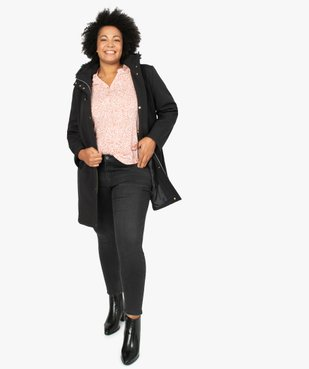 Jean femme slim 4 poches extensible vue5 - GEMO (G TAILLE) - GEMO