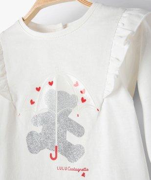 Tee-shirt bébé fille avec motifs pailleté – Lulu Castagnette vue3 - LULUCASTAGNETTE - GEMO