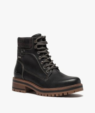 Boots femme à semelle crantée – Tom Tailor vue2 - TOM TAILOR - GEMO