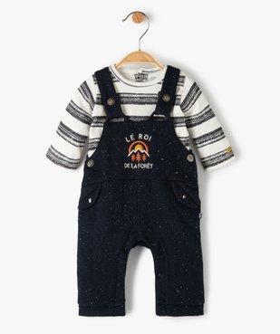 Ensemble bébé garçon 2 pièces : tee-shirt + salopette - Sucre d'Orge vue1 - SUCRE D'ORGE - GEMO