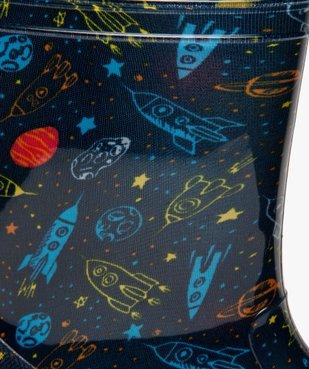 Bottes de pluie garçon motif fusées et semelle lumineuse vue6 - GEMO (ENFANT) - GEMO