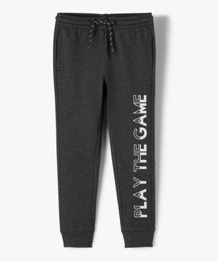 Pantalon de jogging garçon avec inscription sur la jambe vue1 - GEMO (ENFANT) - GEMO