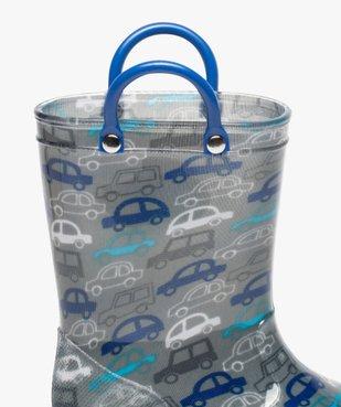 Bottes de pluie bébé garçon à motifs voitures et semelle lumineuse vue6 - GEMO (ENFANT) - GEMO