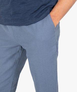 Pantalon homme coupe chino en lin et coton vue2 - GEMO (HOMME) - GEMO