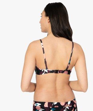 Haut de maillot de bain femme à bretelles multipositions vue2 - GEMO (PLAGE) - GEMO