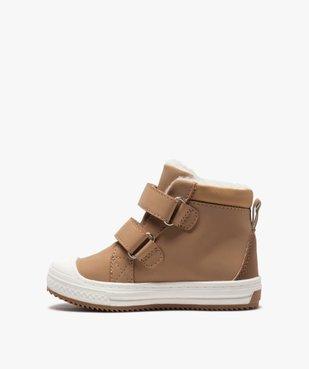 Boots fourrées bébé garçon à scratch vue3 - GEMO(BEBE DEBT) - GEMO