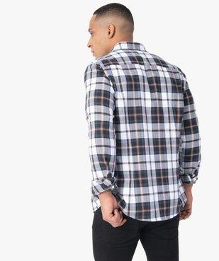 Chemise homme à carreaux coupe slim vue3 - GEMO (HOMME) - GEMO