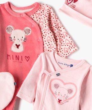 Ensemble bébé 4 pièces : dors-bien, body, bonnet et doudou - Sucre d'Orge vue2 - SUCRE D'ORGE - Nikesneakers