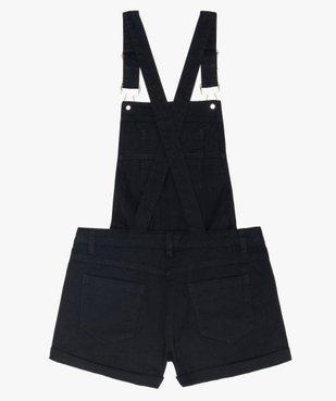 Salopette courte fille en jean noir vue2 - GEMO (JUNIOR) - GEMO
