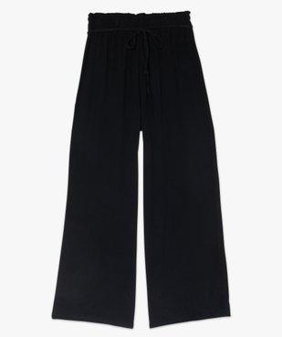 Pantalon femme large et fluide avec ceinture tressée vue4 - GEMO(FEMME PAP) - GEMO