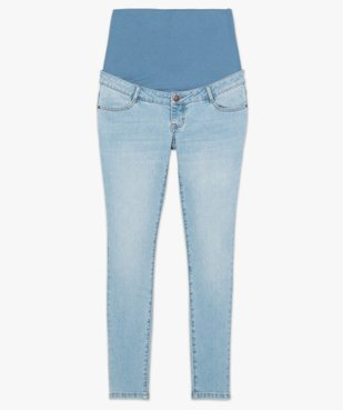 Jean de grossesse slim 4 poches avec bandeau jersey vue4 - GEMO (MATER) - GEMO