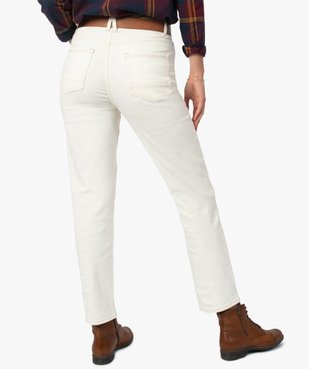 Jean femme coupe Straight taille haute vue3 - GEMO(FEMME PAP) - GEMO