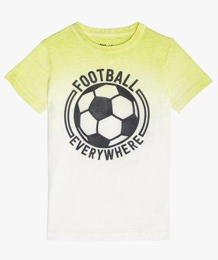 Tee-shirt garçon tie-and-dye avec patch football vue1 - GEMO (ENFANT) - GEMO