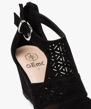 Sandales femme à talon compensé et dessus ajouré vue6 - GEMO(URBAIN) - GEMO