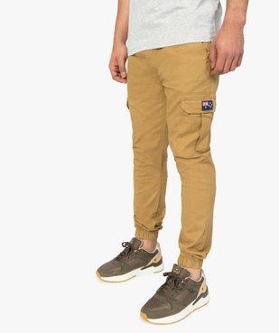 Pantalon homme cargo à taille élastiquée - Roadsign vue1 - ROADSIGN - GEMO