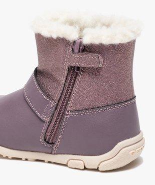 Boots bébé fille zippées fourrées sherpa – Geox vue6 - GEOX - GEMO