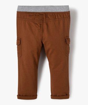 Pantalon bébé garçon coupe battle à revers et taille élastiquée vue3 - Nikesneakers(BEBE DEBT) - Nikesneakers