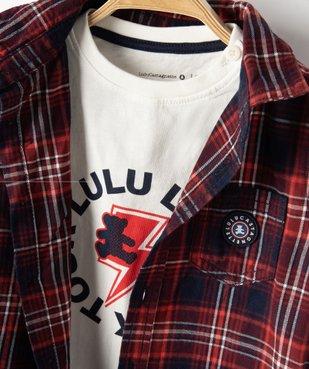 Ensemble 2 pièces bébé garçon : chemise + tee-shirt - Lulu Castagnette vue5 - LULUCASTAGNETTE - GEMO