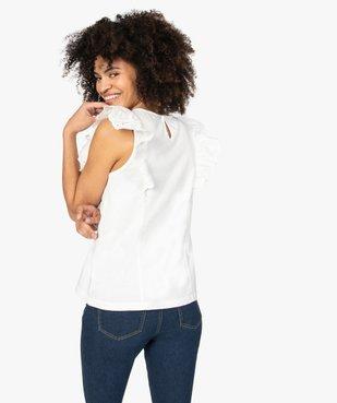 Tee-shirt femme bi-matières ajouré sur l'avant vue3 - GEMO(FEMME PAP) - GEMO