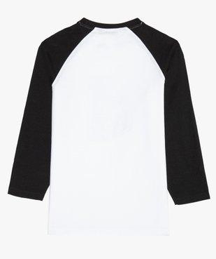Tee-shirt garçon bicolore à manches longues - Fortnite vue3 - FORTNITE - GEMO