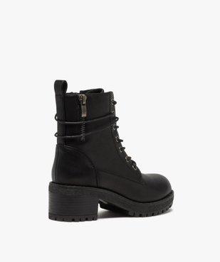 Boots fille unies à talon et semelle crantée fermeture zip vue4 - GEMO (ENFANT) - GEMO