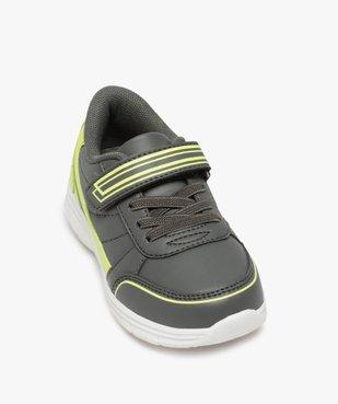 Baskets garçon bicolores à lacets élastiques et scratch vue5 - GEMO (ENFANT) - GEMO