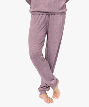 Pantalon de pyjama femme en maille fine vue1 - GEMO(HOMWR FEM) - GEMO