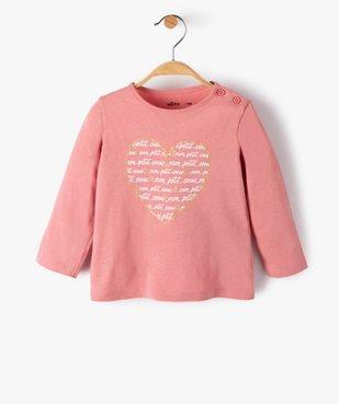 Tee-shirt bébé fille manches longues avec motifs et inscriptions vue1 - Nikesneakers C4G BEBE - Nikesneakers