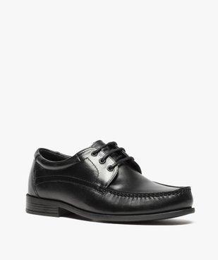 Mocassins homme à lacets dessus et intérieur cuir vue2 - Nikesneakers(URBAIN) - Nikesneakers