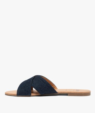 Sandales femme à larges brides croisées souples dessus denim vue3 - GEMO (CASUAL) - GEMO