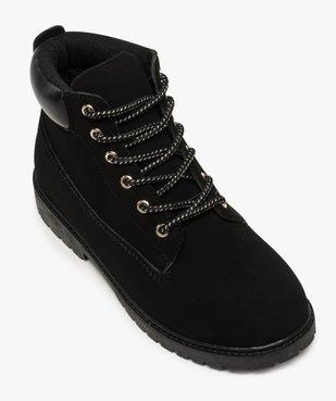 Boots femme à lacets col rembourré et semelle crantée vue5 - GEMO (CASUAL) - GEMO