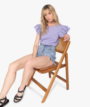 Short femme en jean aspect usé – Lulu Castagnette vue5 - LULUCASTAGNETTE - GEMO