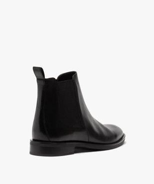 Boots homme style chelsea unis dessus cuir vue4 - GEMO(URBAIN) - GEMO
