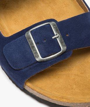 Sandales homme en cuir à larges brides à boucle vue6 - GEMO (CASUAL) - GEMO