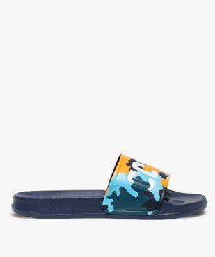 Mules de piscine garçon à bandeau camo « Cool » vue1 - Nikesneakers (ENFANT) - Nikesneakers