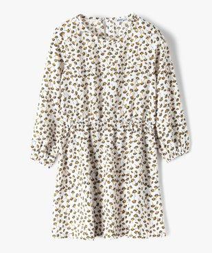 Robe fille imprimée à manches longues et taille élastiquée vue1 - GEMO (ENFANT) - GEMO