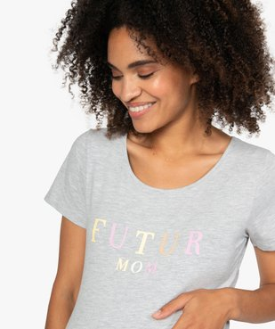 Tee-shirt de grossesse imprimé vue2 - GEMO (MATER) - GEMO