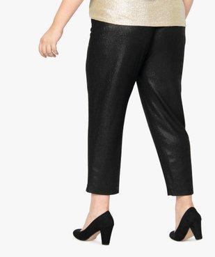 Pantalon femme irisé à taille élastiquée vue3 - GEMO (G TAILLE) - GEMO