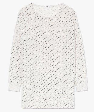 Haut de pyjama femme à manches longues imprimé vue4 - GEMO(HOMWR FEM) - GEMO