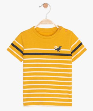 Tee-shirt bébé garçon à manches courtes avec motif vue1 - GEMO C4G BEBE - GEMO