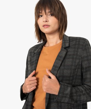 Veste femme à carreaux et col tailleur vue2 - GEMO(FEMME PAP) - GEMO